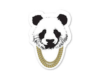 Bad Panda Sticker - White