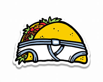 Undies Taco Sticker