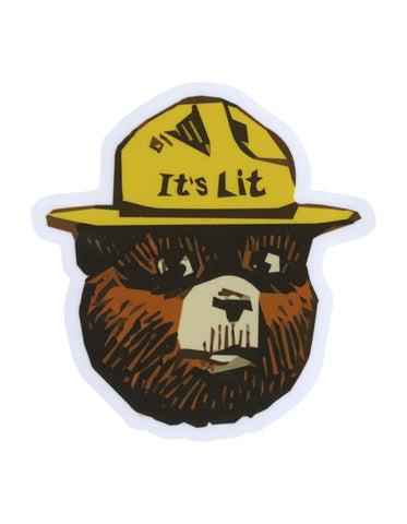 Lit Bear Sticker