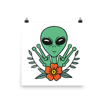 Load image into Gallery viewer, Peace Alien Poster