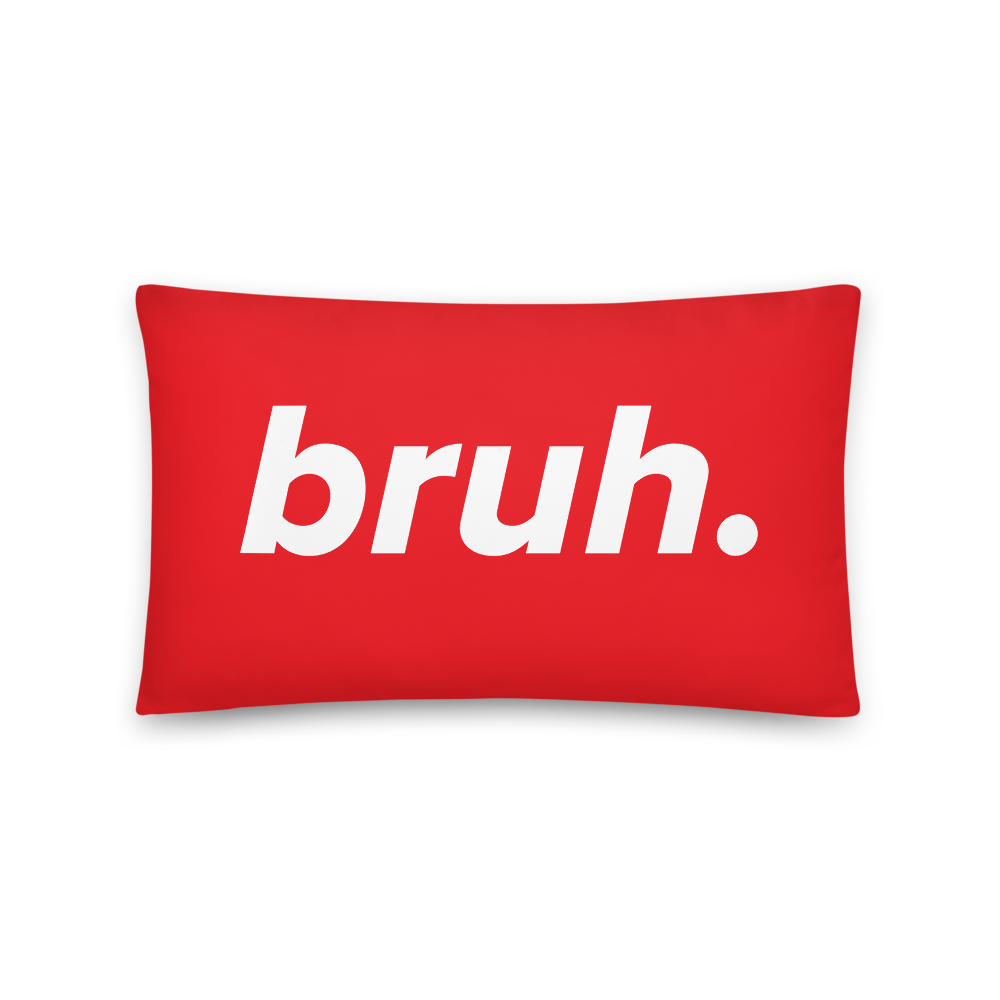 Bruh. Throw Pillow