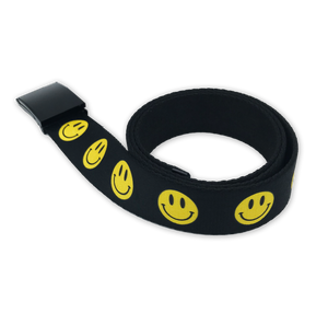 Smile Black Web Belt