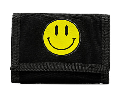 Smile Black Trifold Wallet