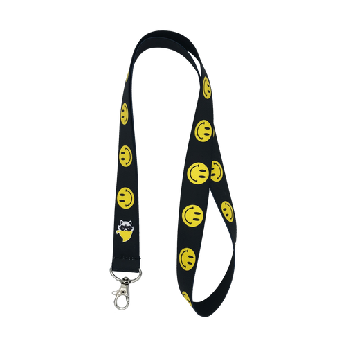 Smiley Black Lanyard