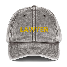 Load image into Gallery viewer, LAWYER Vintage Cotton Twill Cap