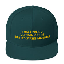 Load image into Gallery viewer, Custom Embroidered Military United States Marines Veteran Trucker Hat