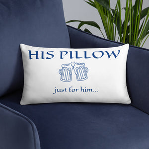 Decorative Just For Him Throw Pillow For Bedroom Or living Room. Wedding Gifts For The Groom