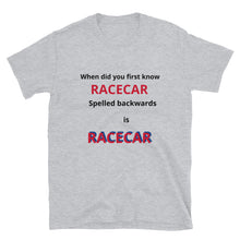 Load image into Gallery viewer, Short-Sleeve Unisex Novelty Racecar T-Shirt