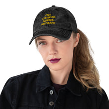 Load image into Gallery viewer, CNA CERTIFIED NURSES ASSISTANT Vintage Cotton Twill Cap