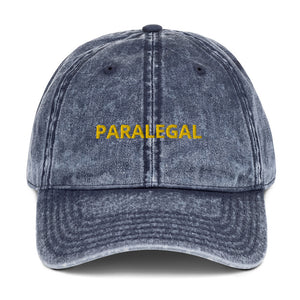 PARALEGAL Vintage Cotton Twill Cap