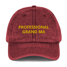 Load image into Gallery viewer, PROFESSIONAL GRAND MA Vintage Cotton Twill Cap