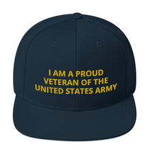 Load image into Gallery viewer, Custom Embroidered Military United States Army Veteran Trucker Hat