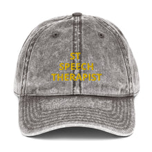 Load image into Gallery viewer, ST SPEECH THERAPIST Vintage Cotton Twill Cap