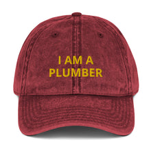 Load image into Gallery viewer, I AM A PLUMBER Vintage Cotton Twill Cap