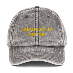 NURSES DO IT BETTER Vintage Cotton Twill Cap