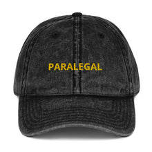 Load image into Gallery viewer, PARALEGAL Vintage Cotton Twill Cap