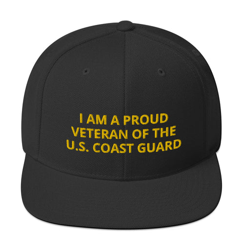 Custom Embroidered Military United States Coast Guard Veteran Trucker Hat