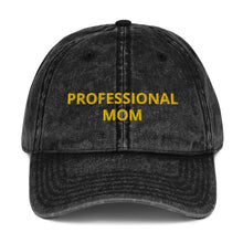 Load image into Gallery viewer, PROFESSIONAL MOM Vintage Cotton Twill Cap