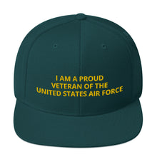 Load image into Gallery viewer, Custom Embroidered Military United States Air Force Veteran Trucker Hat