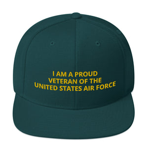 Custom Embroidered Military United States Air Force Veteran Trucker Hat
