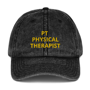 PT PHYSICAL THERAPIST Vintage Cotton Twill Cap