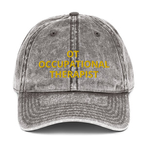 OT OCCUPATIONAL THERAPIST Vintage Cotton Twill Cap