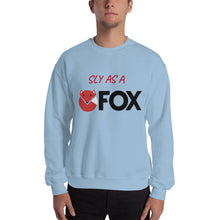 Load image into Gallery viewer, SLY AS A FOX Long Sleeve Pullover Unisex Crew Neck Sweatshirt Gildan 18000