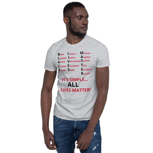 Black Lives Matter All Lives Matter Short-Sleeve Unisex T-Shirt