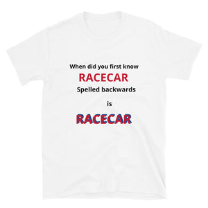 Short-Sleeve Unisex Novelty Racecar T-Shirt