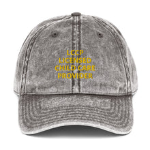 Load image into Gallery viewer, LCCP LICENSED CHILD CARE PROVIDER Vintage Cotton Twill Cap