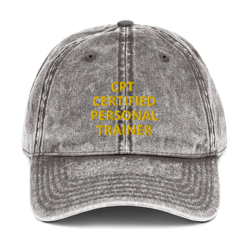 CPT CERTIFIED PERSONAL TRAINER Vintage Cotton Twill Cap