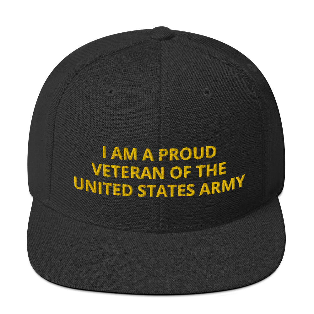 Custom Embroidered Military United States Army Veteran Trucker Hat