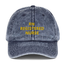 Load image into Gallery viewer, RN REGISTERED NURSE Vintage Cotton Twill Cap