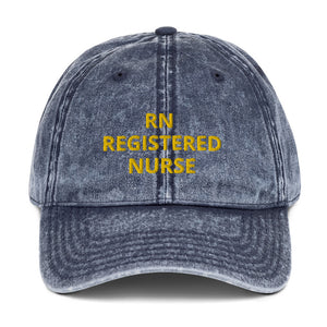 RN REGISTERED NURSE Vintage Cotton Twill Cap