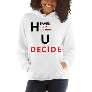 Faith Based Christian Long Sleeve Pullover Unisex For Him or Her Hooded Sweatshirt