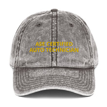 Load image into Gallery viewer, ASE CERTIFIED AUTO TECHNICIAN Vintage Cotton Twill Cap