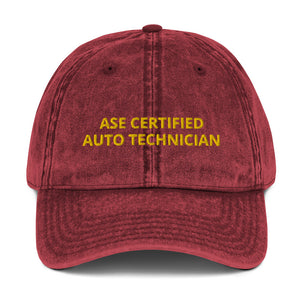 ASE CERTIFIED AUTO TECHNICIAN Vintage Cotton Twill Cap