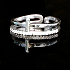 Akiva Sterling Silver Cross Ring - CalicoMarket
