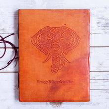 Load image into Gallery viewer, Elephant Yoga Handmade Leather Journal - CalicoMarket