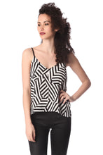 Load image into Gallery viewer, Black Geo Print Cami Top - CalicoMarket