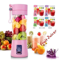 Load image into Gallery viewer, 2/4/6 Blades Mini USB Portable Electric Fruit Juicer Smoothie Maker Blender Machine Sports Bottle - CalicoMarket