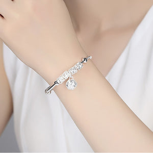 925 Sterling Silver Charm Bracelet Women Silver Jewelry Accessories - CalicoMarket