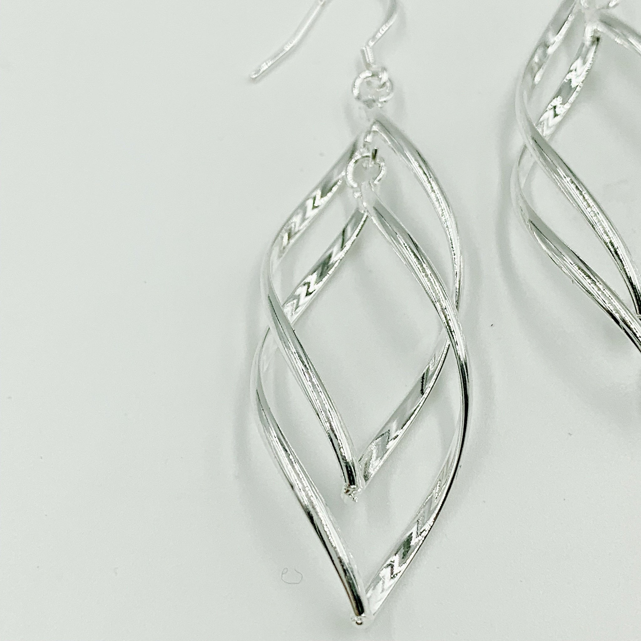 Avalon Sterling Silver Intertwining Earrings - CalicoMarket