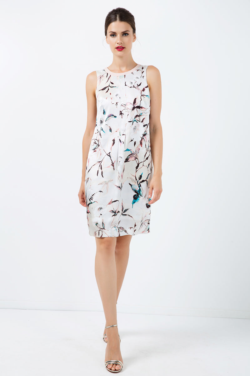 A Line Sleeveless Satin Dress - CalicoMarket