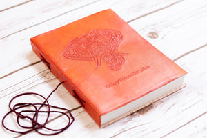 Elephant Yoga Handmade Leather Journal - CalicoMarket