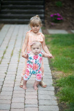 Load image into Gallery viewer, Apricot Tie Girls Romper for Babies and Toddlers - CalicoMarket