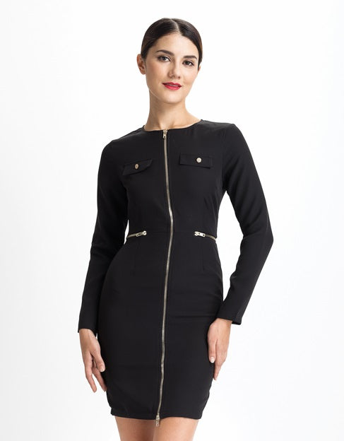 Black Zipper Dress - CalicoMarket