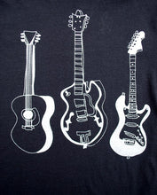 Load image into Gallery viewer, 3 Guitars Heather Black - CalicoMarket