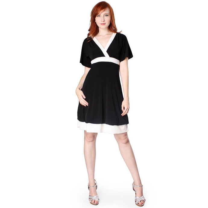Evanese Women's Short Kimono sleeve Bubble skirt Casual Cocktail Day Dress - CalicoMarket