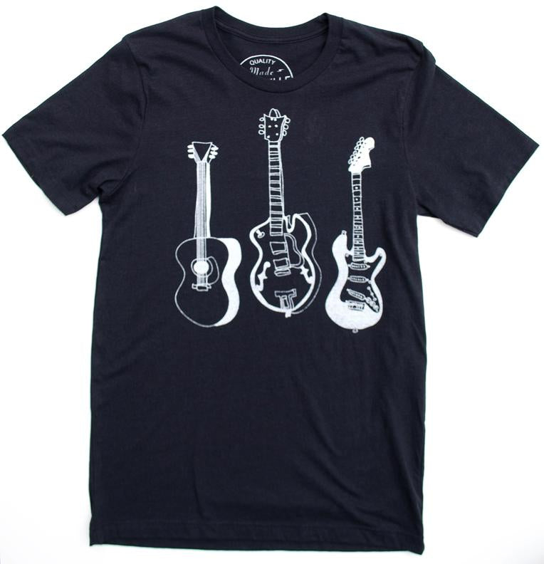 3 Guitars Heather Black - CalicoMarket